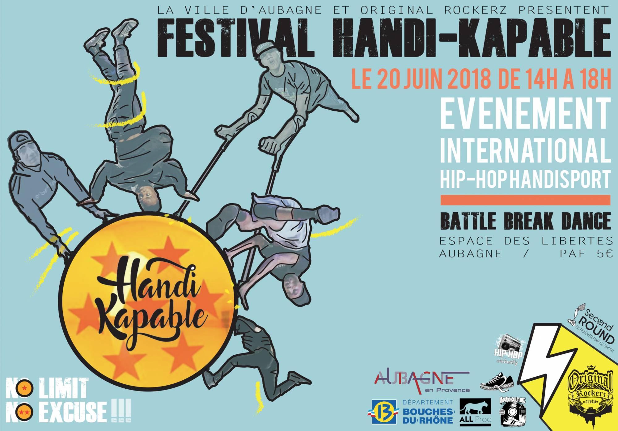HANDI-KAPABLE CHAMPIONNAT - 20 Juin 2018 à 14H00 - Espaces des Libertés - Aubagne