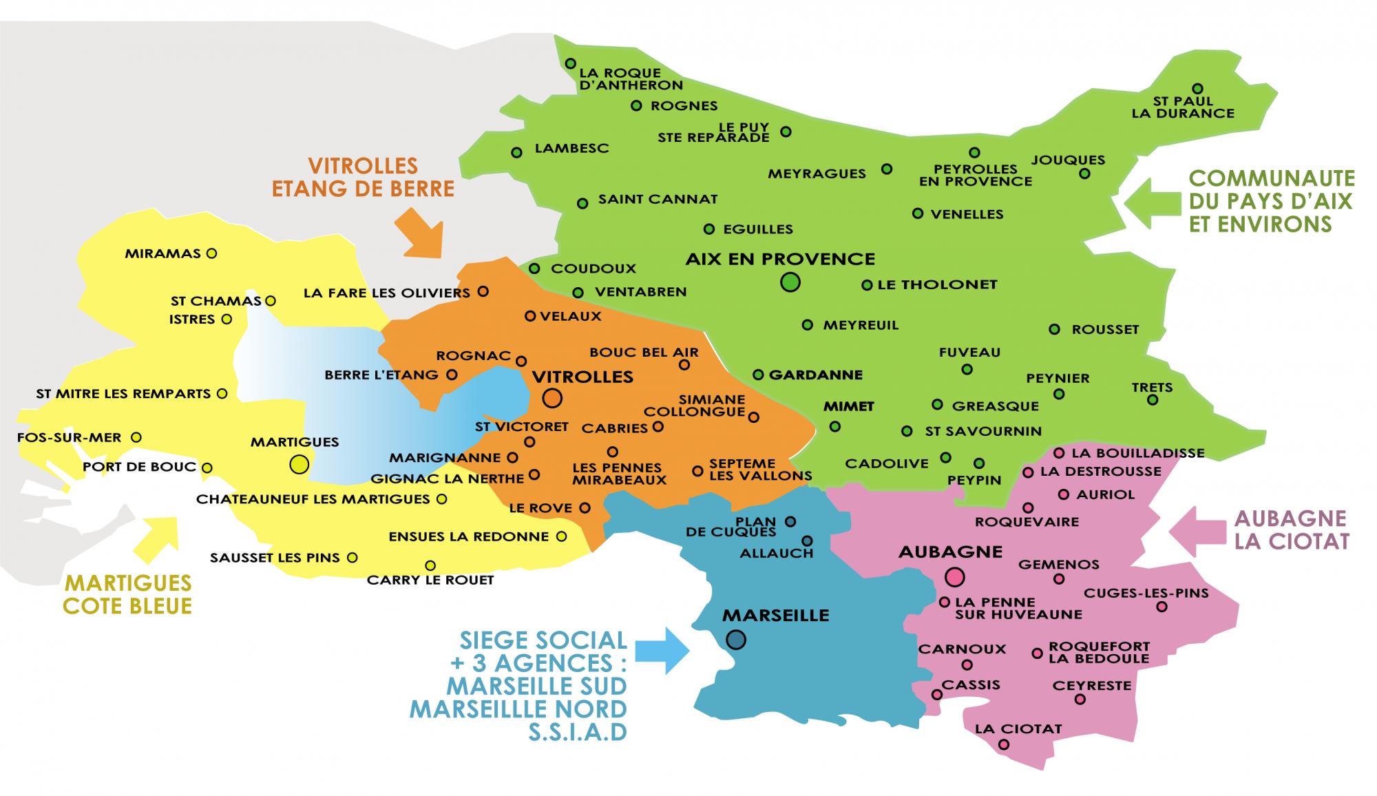 Aide et assistance à domicile : notre secteur d'intervention dans les Bouches du Rhône
